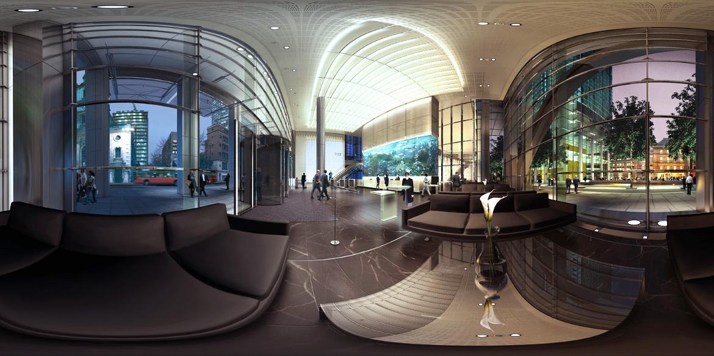 Трехмерная панорама помещения