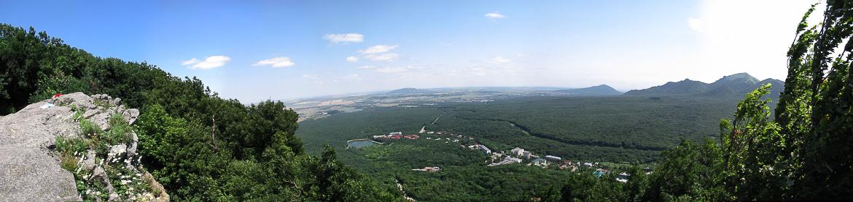 Фото панорама вид с горы Железная на Бештау Железноводск