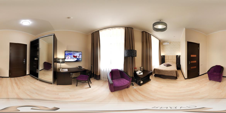 Панорама одноместного гостиничный номера санатория Бештау