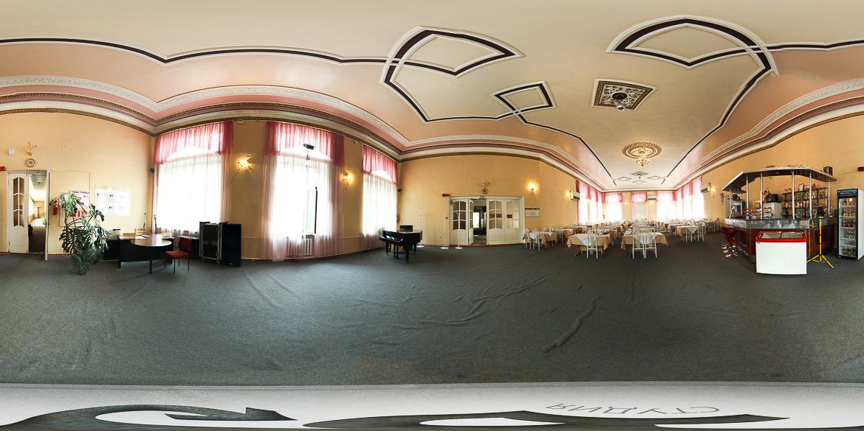 3D панорама столовой санатория Здоровье