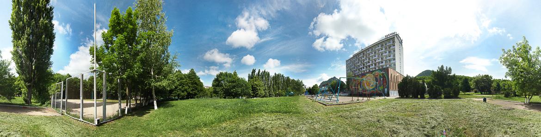 Панорамная фотография санатория Дубрава Железноводск