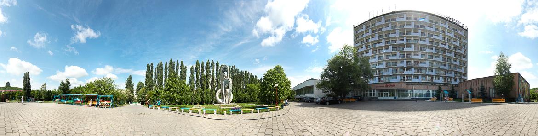 Панорамная фотография санатория Дубрава
