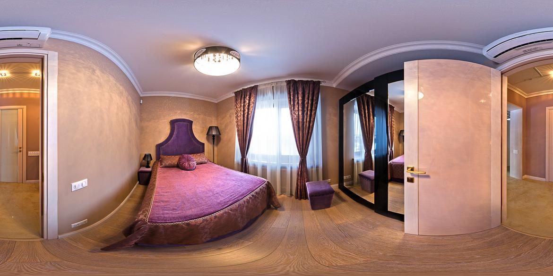Виртуальный тур по коттеджу, спальная комната