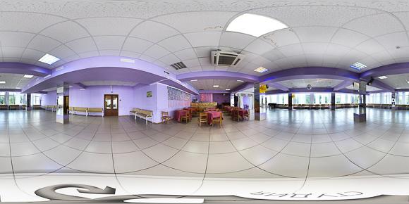 3d панорама танцевального зала санатория Тельмана