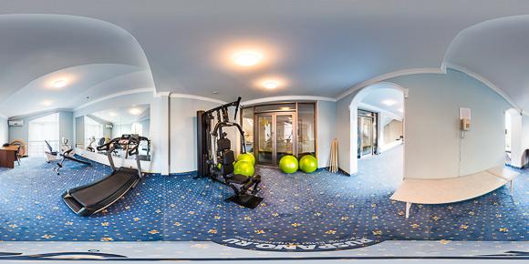 Панорама спортивного зала санатория Буковая роща
