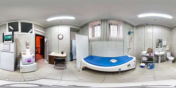 Панорама лечебного кабинета санатория
