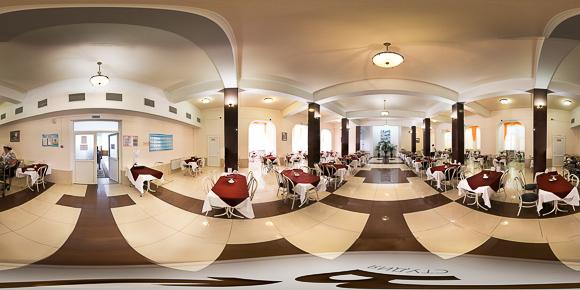 Панорама столовой санатория Салют