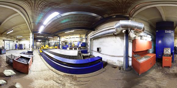 Цех обработки металлоконструкций, панорама