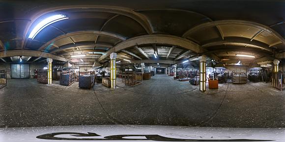 Панорамная фотография цеха