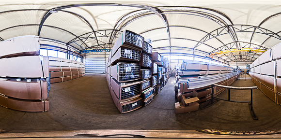 3d панорама склада алюминиевых профилей АЛМО