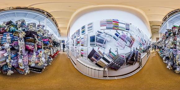 Панорама магазина Новые ткани