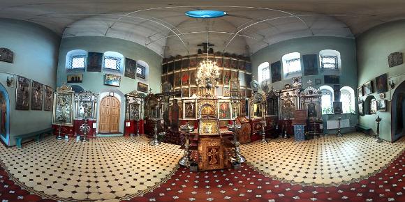 Панорама храма Спас-Загорье