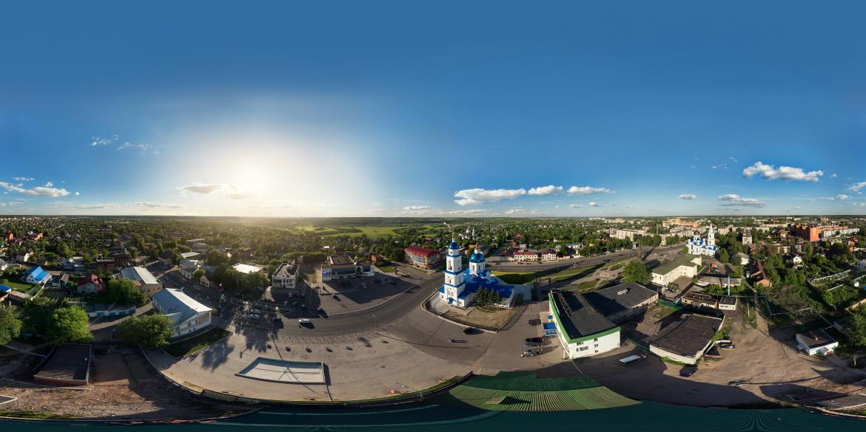 Съемка панорамы и виртуального тура с квадрокоптера, гексакоптера